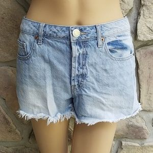 Forever 21 Light Wash Frayed Shorts
